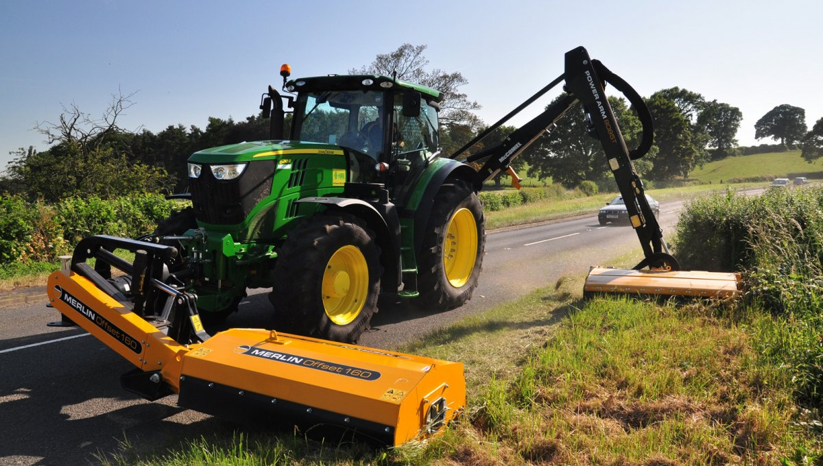 Offset Finish Mower : Flail mowers