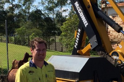 Rob's on top down under with McConnel machinery