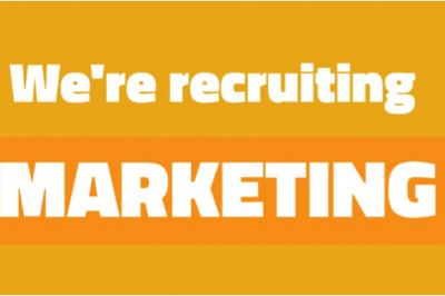 We're recruiting for marketing roles